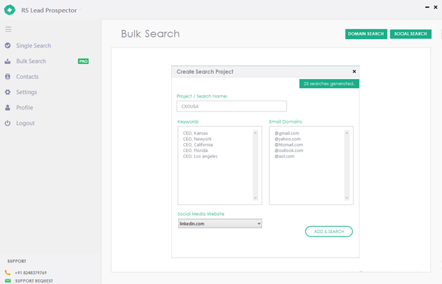how to add bulk search with PRO